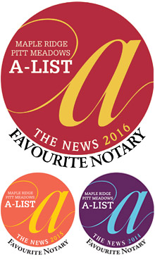 Maple Ridge & Pitt Meadows NEWS 2014-2016 Favorite Notary